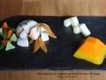 dome saumon cabillaud fromage et poivrons