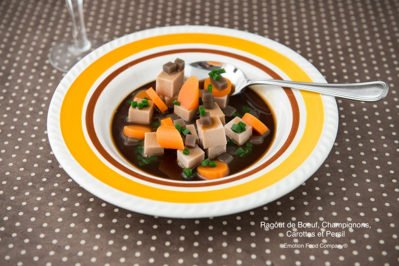 Pork stew, carrots and parsley