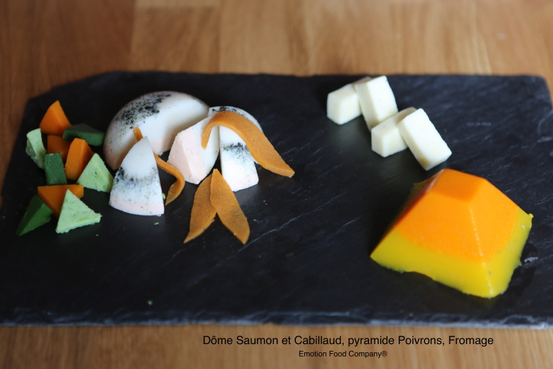 dome saumon cabillaud fromage et poivrons