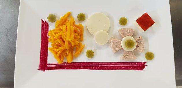 Carottes, pomme de terre, fromage et jambon avec Easy-Base